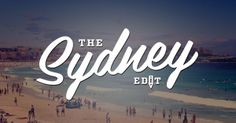 We've created a page dedicated to the creative world of Sydney.. we're proud to present: The Sydney Edit.  This page includes all our amazing Sydney projects, initiatives, collections and events.  Let us know what you think!