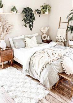 Boho Bedroom Diy, Cute Bedroom Decor, Room Design Bedroom, Room Ideas Bedroom, Home Bedroom, Bedroom Inspo, Bedroom Designs, Cozy Room, Aesthetic Bedroom