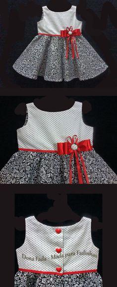 Vestido com Saia Godê  - 2 anos  - - - - - baby - infant - toddler - kids - clothes for girls - - - https://www.facebook.com/dona.fada.moda.para.fadinhas/
