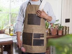 View our Artisans Leather and Canvas Apron from the collection Unique Gifts For Men, Unique Presents, Gifts For Him, Leather Apron, Leather Wallet, Work Aprons, Bbq Apron, Christmas Gifts For Men, Vintage Gifts