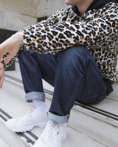 2cb04a1ce Men's Outfit Inspiration | Urban Renewal Vintage Remnants Snow Leopard  Print Faux Fur Jacket | Urban