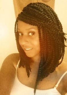 My braided bob, which I loved! This was styled to a long length because of the…