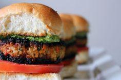 Veggie Masala Burgers with cilantro chutney aioli Veggie Burger Recipes (PHOTOS)