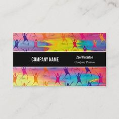 Fitness Dancing Modern Business Card Company Business Cards, Modern Business Cards, Company Names, Keep It Cleaner, Personal Trainer, Holiday Cards, Dancing, Joy, Fitness