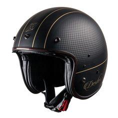 110e Biker Helmets, Half Helmets, Riding Helmets, Dexter, Helmet Accessories, Cool Gear, Cool Motorcycles, Cafe Racers, Custom Bikes