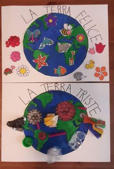 April 22 Earth Day, Classroom Charts, Hedgehog Craft, Grande Section, Outdoor Education, Planet Earth, Holidays And Events, Teacher, Crafts