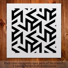 "Geometric Pattern Stencil For Your Projects. Small Stencil. (11"""" x 11"""")"