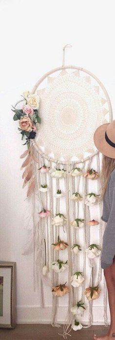 Dream catcher with flowers