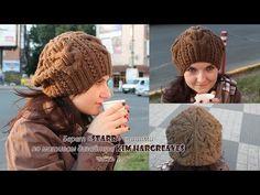 Модель дизайнерской шапки Starr спицами от Kim Hargreaves с переводом | Вязание Шапок Спицами и Крючком