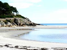 Rospico beach is a sheltered beach in a small bay in Brittany