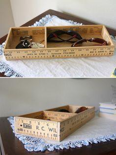 DIY Ruler Entryway Box Tutorial