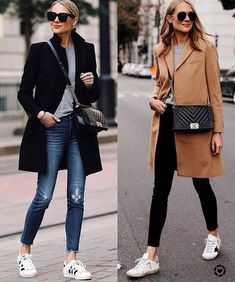 Stylish outfits, sneakers outfit casual, fashion outfits, womens fashion, s Sneakers Fashion Outfits, Winter Fashion Outfits, Mode Outfits, Look Fashion, Autumn Winter Fashion, Fall Outfits, Casual Outfits, Womens Fashion, Sneaker Outfits Women
