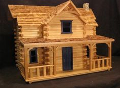 Manchester Woodworks makes and sells a wide variety of basswood and red oak trim and molding for professionals, hobbyist, and homeowners. Cabin Dollhouse, Dollhouse Kits, Wooden Dollhouse, Popsicle Stick Houses, Popsicle Stick Crafts, Craft Stick Crafts, Fairy Houses, Play Houses, Doll Houses