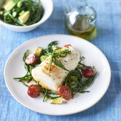 Roasted Cod With Chorizo And Samphire Salad - Woman And Home