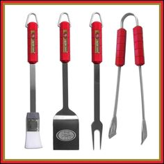 NFL San Francisco 49Ers 4-Piece Barbecue Set by Siskiyou Football Team #SanFrancisco49ers