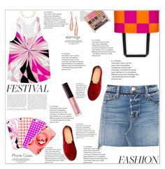 """""""Music Festival Fashion"""" by atelier-briella ❤ liked on Polyvore featuring Frame, Panacea, Charlotte Olympia, Robert Lee Morris, Laura Mercier, Urban Decay, cute, tanktop, iPhonecases and festivalfashion"""