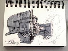 SpaceshipADay 012, Jeff Zugale on ArtStation at https://www.artstation.com/artwork/spaceshipaday-012