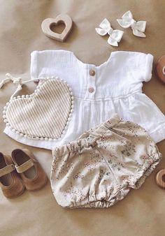 Handmade Fleur Linen Baby Bloomers | MiyaAndMa