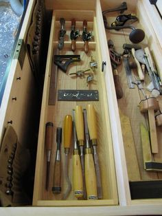 Tool Chest #9: Filling the Tool Chest and Drawknife Till - by CartersWhittling @ LumberJocks.com ~ woodworking community