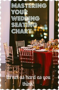 Tips and Tricks for Mastering your Wedding Seating Chart. Stop stressing out! Photo by Redfield Photo #wedding #weddingplanning