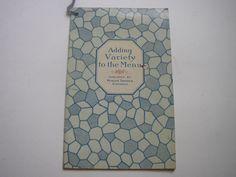 Minute #Tapioca Recipes Vintage Cookbook 1925 Adding Variety to the Menu Cook Book