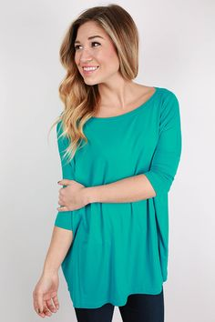 PIKO Mid Sleeve Tee in Bright Blue
