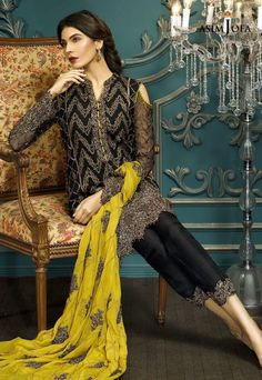 Pakistani Fancy Dresses Asim Jofa Mysorie Chiffon Collection 2017-18 (11)
