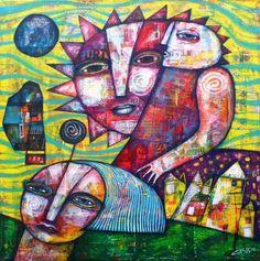 SUN MAN artwork by Dan Casado outsider folk art