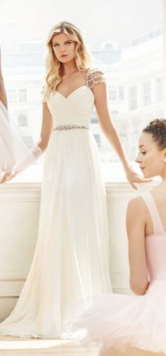 Half up half down wedding hairstyles flatter almost any bride because of the versatility of styles. Be inspired and learn how to achieve this look. Hayley Paige Bridal, Blush By Hayley Paige, Mod Wedding, Dream Wedding, Wedding Ideas, Formal Wear, Formal Dresses, Wedding Dresses, Grace Loves Lace