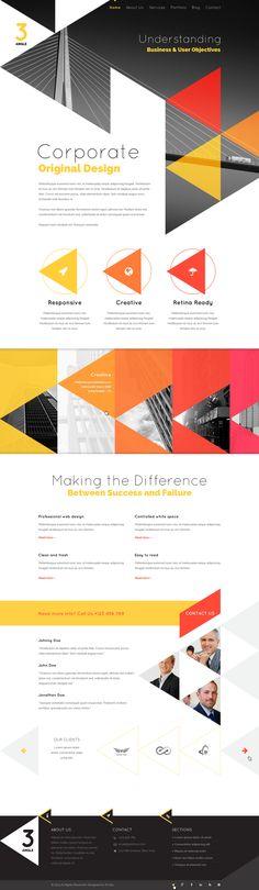 3Angle - Agency Creative HTML Template by WordPress Design Awards , via Behance