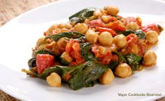 Moroccan Chickpeas with Tomatoes and Spinach from cookbook Quick-Fix Vegan