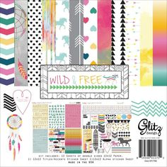 Glitz Designs CHA Summer 2013 Sneak Peek Wild & Free Collection