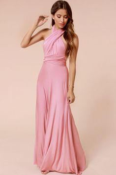 Vestidos Jersey : Vestido largo con escote versátil