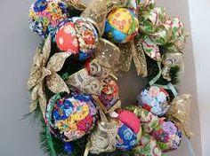 Resultado de imagem para decoração de natal com chita