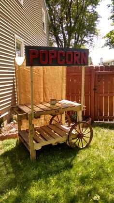 Use for potting bench without the upper braces and Popcorn sign