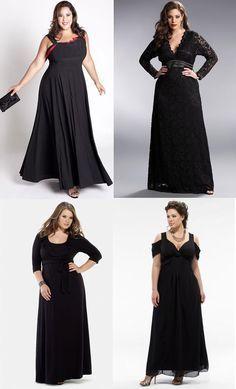 moda   modelos vestigos gg moda plus size preto Para copiar Vestidos longos ...