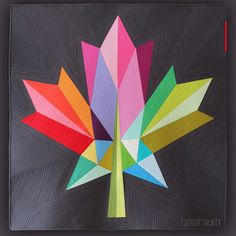 Maple Leaf quilt pattern by Tamara Kate Barn Quilt Designs, Barn Quilt Patterns, Quilting Designs, Paper Patterns, Happy Birthday Canada, Happy Canada Day, Star Quilts, Quilt Blocks, Maple Leaf Logo
