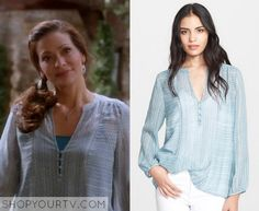 Switched at Birth: Season 4 Episode 13 Regina's Blue Print Blouse