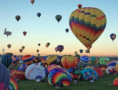 Albuquerque NM Balloon Fiesta.  Must see it to believe it!!  Fabulous trip!