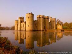 Bodiam Castle, East Sussex. http://dailytravelideas.com