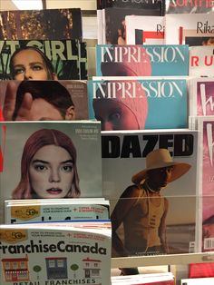 Magazine stand at Indigo Bay/Bloor with The Impression Issue II featuring Betty Barbs