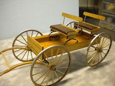 "Buckboard Old Fashion Wagon 1"" Scale Dollhouse Miniature"