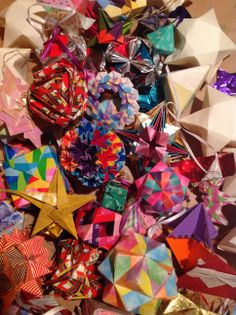 A very small portion of my origami ornaments.