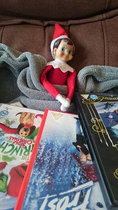 Elf having a snuggled DVD night in