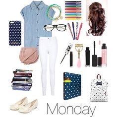 School Outfits: Nerdy: Monday
