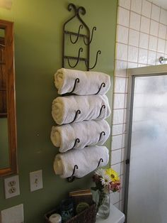 This is a wine rack used for towels---really like this