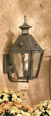 C101-4100 By Artistic Lighting-New Castle Collection Charcoal Finish Solid Brass Lanterns