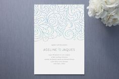 Ocean Flourish Invitation
