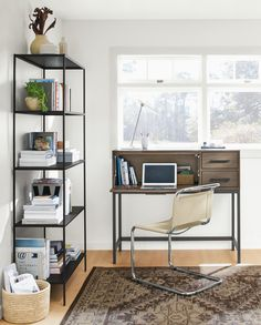 Modern Office Desk, Modern Home Offices, Office Storage, Home Office  Furniture, Modern