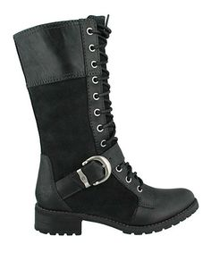 Look at this #zulilyfind! Black Bethel Mid Lace Boot by Timberland #zulilyfinds